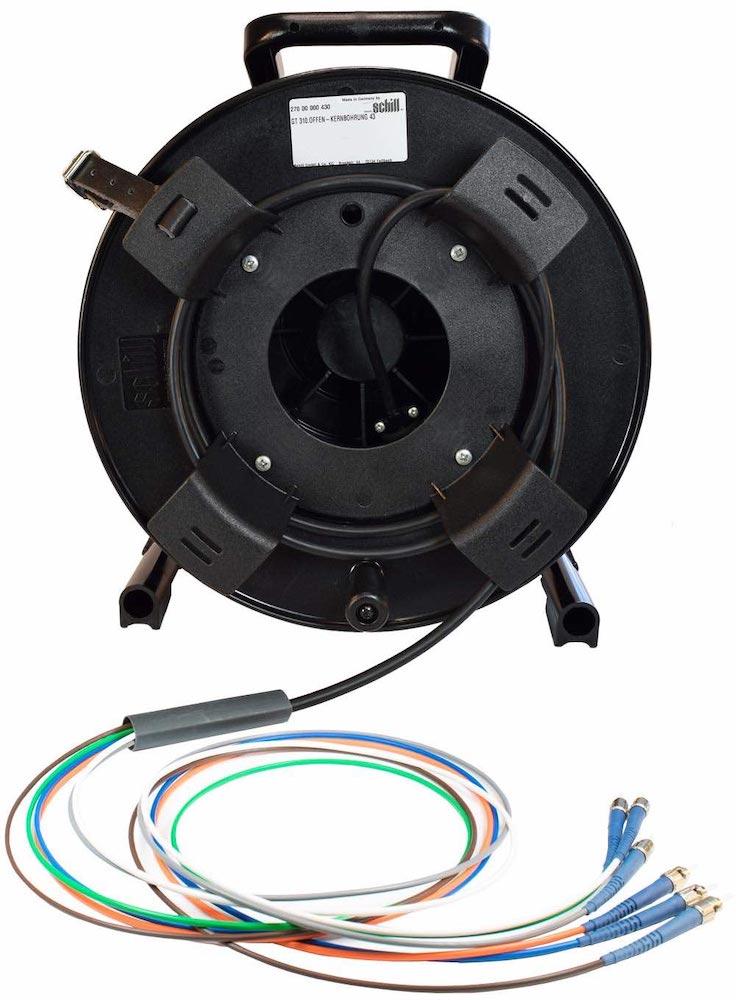 FIS Blue Fiber Optic Tactical Cable